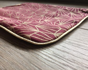 /Trousse fabric zippered pouch