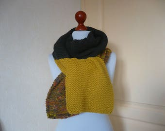 Knitted with 3 quality wool scarf