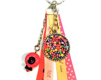 "Gourmet keychain ""smarties"" and pacifier"