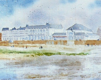 PUZZLE art depicting the Grand Hotel and casino Cabourg