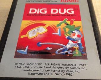 Atari 2600 Game Dig Dug 1982