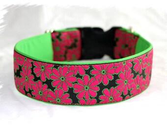 "Dog Collar Jacquard Ribbon ""Flowery dream""  Design"