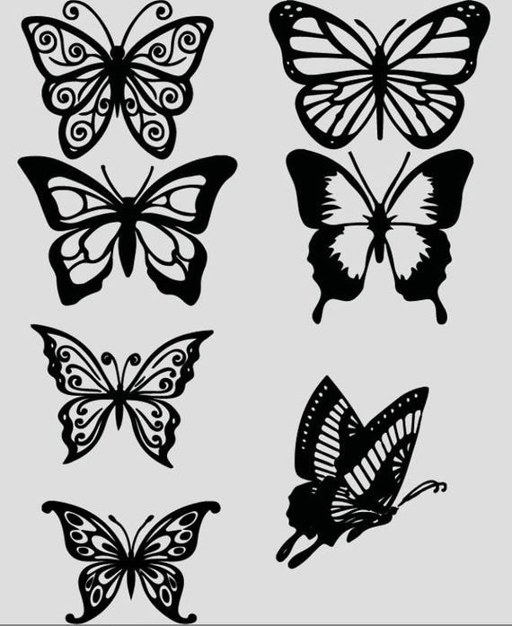 Butterfly Vinyl Decals Stickers Butterfly Phone Case Decals - Butterfly vinyl decals