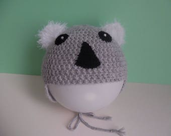 Hat child size 52/54 crochet koala