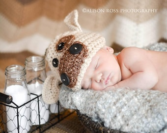 Newborn Baby Cow/Calf Crochet Photo Prop Hat