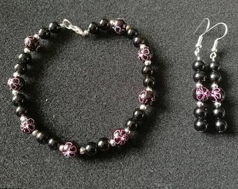 69. Bracelet and Earrings Set