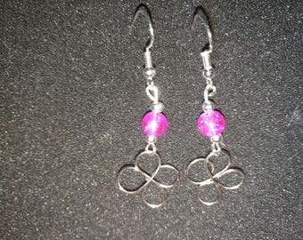 86. Hand Crafted Flower Earrings