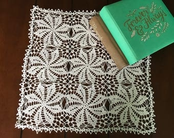 Unique table decoration, new crochet handmade tabletcloth
