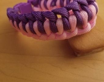 Pink and Purple Mamba Paracord Bracelet