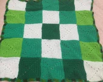 Green baby rug