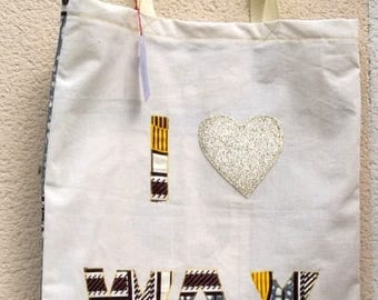 Tote bag: I LOVE WAX