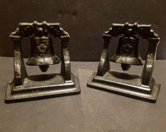 Vintage Liberty Bell Bookends