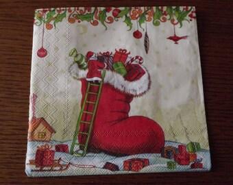 paper towel Santa Boot