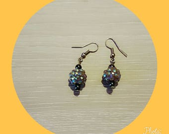 earring with a Brown Pearl