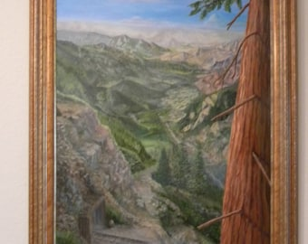 Morrow Rock imagined view, Sequoia National Forest