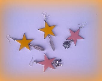 SET of 2 pairs of earrings * the stars...