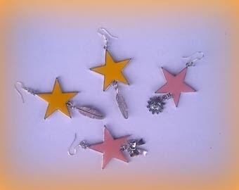 SET of 2 pairs of earrings * stars... *.