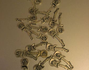 DIY 20  piece guitar Charms