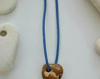 Holey stone necklace | holey stone talisman | Hag stone necklace | natural holey stone from Amber coast Suffolk UK