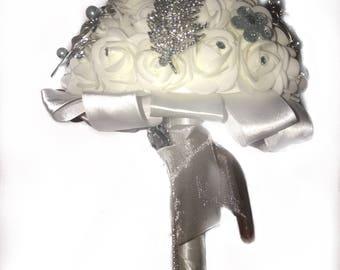 Brides wedding silk luxury bouquet