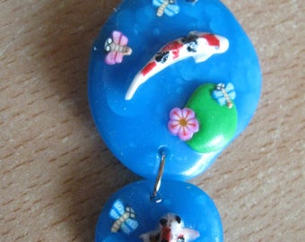 Necklace chain and polymer clay fish ptits