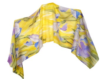Iris Silk Scarf