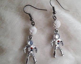 Astronaut Earrings, Spacemen Earrings, Space Earrings, Moon Earrings, Space the Final Frontier, NASA