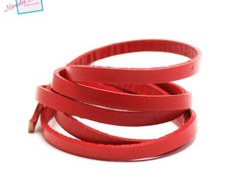 genuine 6 mm red leather cord 1 m