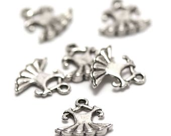 "10 charms ""dress on hanger"", 15 x 15 mm, silver, A 053"