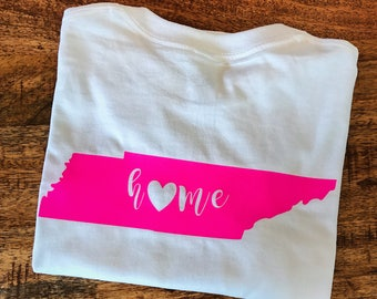 Home State Pride Monogram T-Shirt, Southern, Monogrammed gifts, Tennessee, Preppy, Gifts