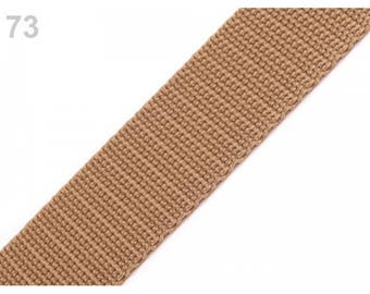 1 meter of 25 mm beige nylon strap