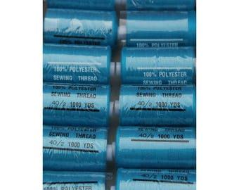 yarn turquoise polyester 1000 yards 208