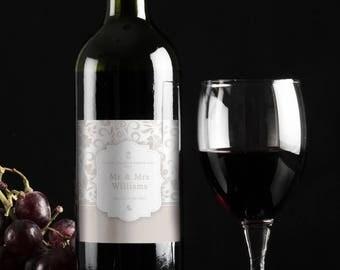 Personalised wine bottle label
