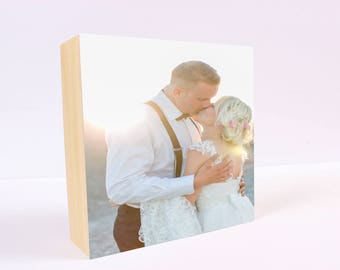 PHOTO PRINT on WOOD: Photo Gift, Photo Display, Photo Block, Personalized Gift, Personalized Photo Block, Gift for Wife, Gift for Couple