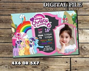 My Little Pony Invitation,My Little Pony Birthday Invitation,My Little Pony,Girl Invitation,My Little Pony Birthday,My Little Pony Invite SL