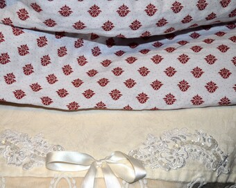 Lovely upholstery beige background and Burgundy print fabric