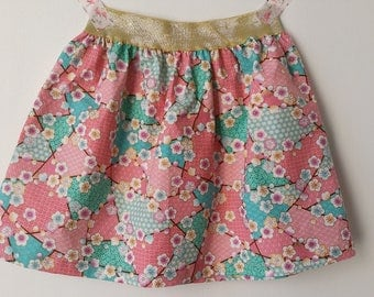 Skirt 2 years of Japanese cotton and wide elastic
