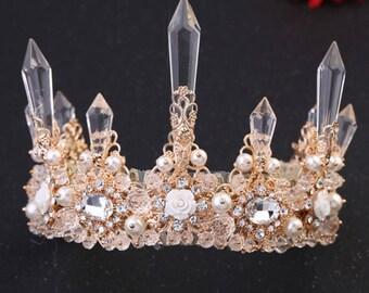 Handmade bridal hair crown