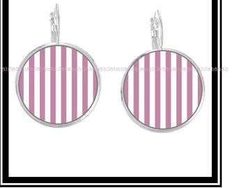 """Earrings,"" simply pink & white """