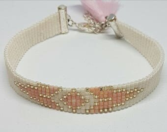 BOHEMIAN bracelet, Ibiza, Boho, woven bracelet, seed beads.