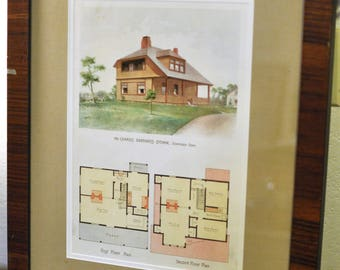 Architectural Print, Mr. Charles Barnard's Cottage, Stamford Conn.
