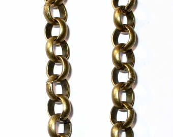 1 m chain bronze chunky knit smooth 7mm ACCH176 Belcher