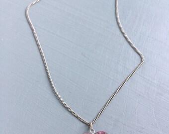 Heart shaped gem stone pendant- unakite
