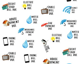 Bill Due Icon Planner Stickers