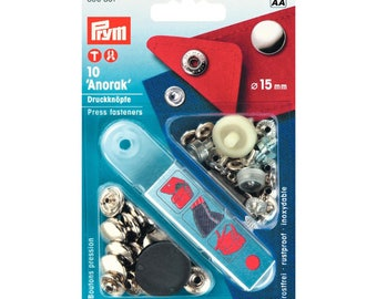 10 pressure for coats and jackets - 15mm - PRYM