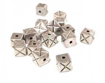 Spacer metal CUBE 7 mm ❤ ❤ X 50 beads