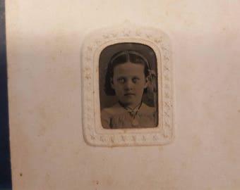 Tin Type Photo of child