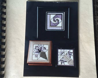 """Quilt Patch Series 1  **Needlepoint**  by Susan Portra  """"VINTAGE AND RARE""""  Carolina Lily, French Nosegay, Star Reel"""