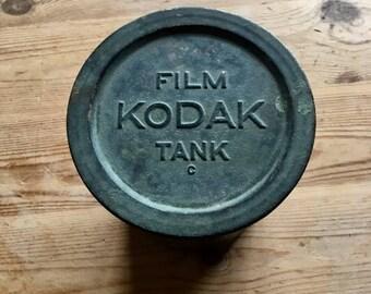 Vintage Kodak Film Tank - Photography Collectable - Wedding Decor - Industrial Style