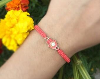 Hamsa evil eye simple elegant bracelet